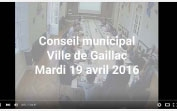 Conseil municipal du 19 avril en replay